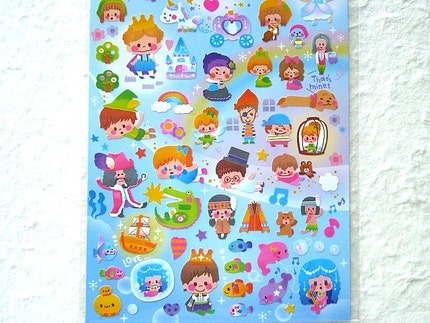Kawaii Cute Japanese Stickers  Fairy Tale by FromJapanWithLove