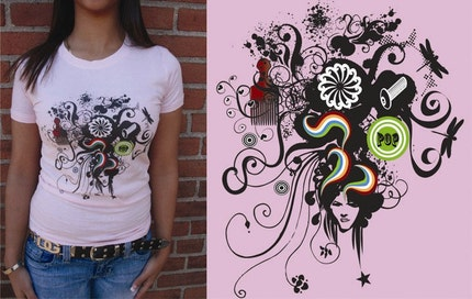 Hair PoP Graphic T shirt in size XS, S, M and L