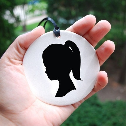 CUSTOM - Single Silhouette Ornament
