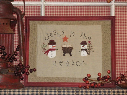 Country Christmas Handmade Stitchery
