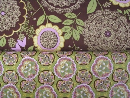 Amy Butler Lotus  Yard Bundle (2 Yds Total)  Lacework and Star Paisley - LAST ONE
