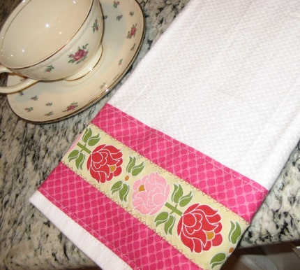 Pink Perfection Luxe Towel-- Great for Kitchen or Bath READY TO SHIP