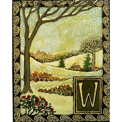 W is for Winter - A Print from the Medieval Alphabet
