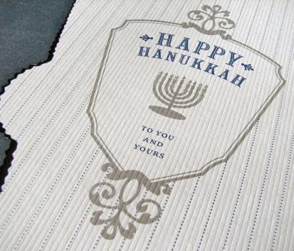 Hanukkah Crest Card