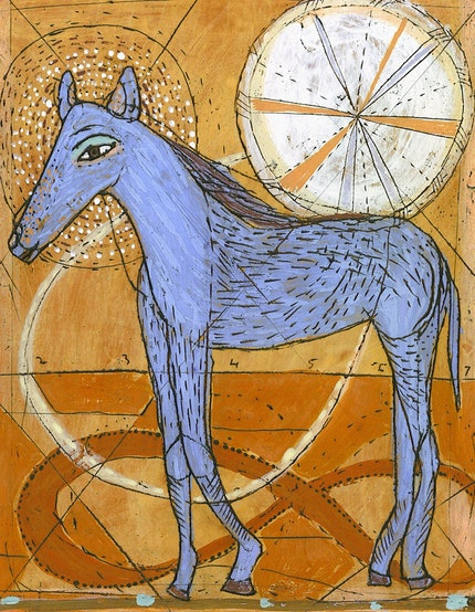 Blue Horse - Limited Edition Giclee Print
