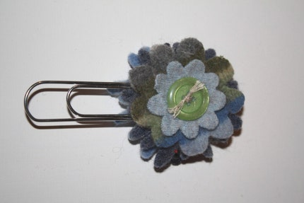 Felted Flower Bookmark