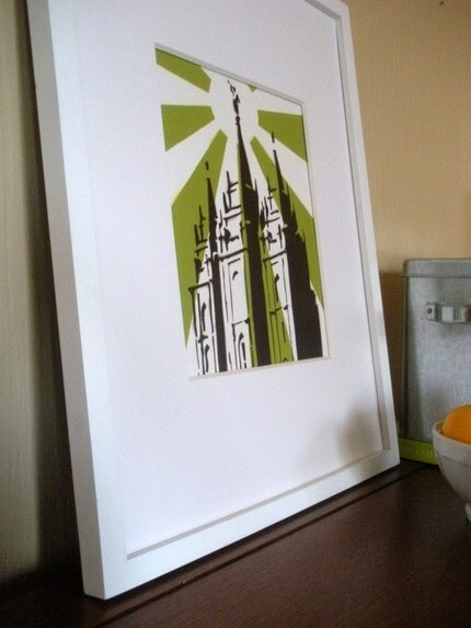 La La Love to See the Temple - ORIGINAL- Avocado Green