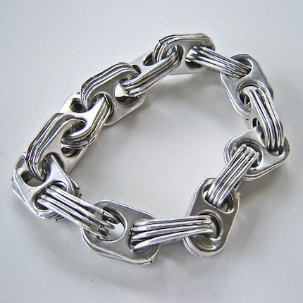 Bracelet Aluminum CHAIN Pull Tab  - Men or Women or Children
