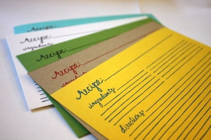 Recipe Cards --20 pack addition