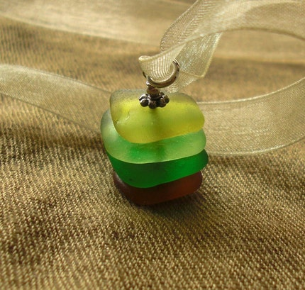Trees Lover - Seaglass Stack Pendant