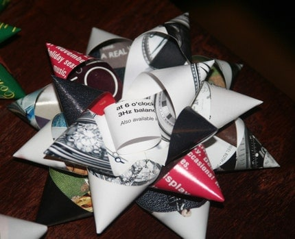 Upcycled Paper Gift Bows - Pack of 10