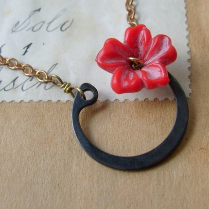 Wildflower Necklace by Lazygiraffe