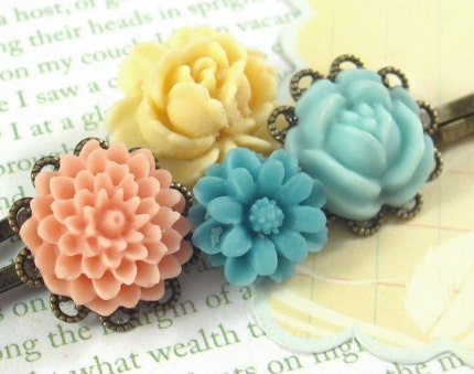 English Rose. Hair Pins