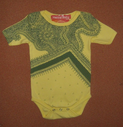 Organic Danbin  Onesie -- hand painted one of a kind.  FREE DOMESTIC SHIPPING.