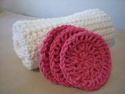 Girly Gift Pack Facial Scrubbies and Washcloth