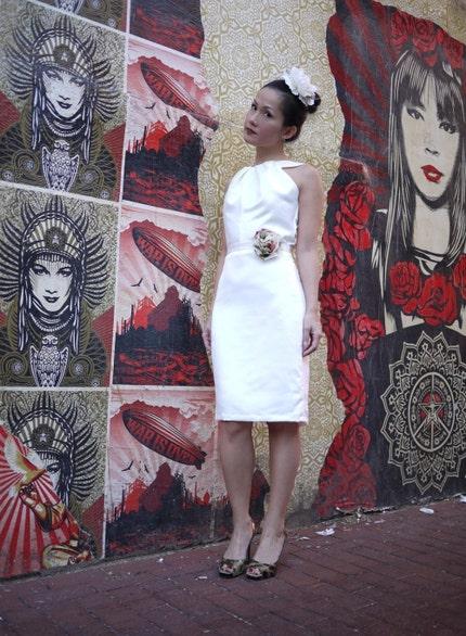 Grace Satin Wedding Reception Getaway Bridesmaid Dress