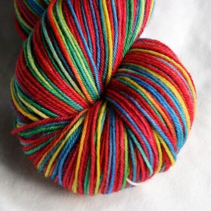 Variegated Sock Yarn - Scarlet Macaw