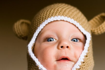 Monkey Ear Flap Baby Hat  4 sizes Newborn - 24 months PDF Pattern
