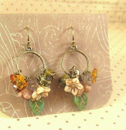 Autumn Fields. Hoop Earrings