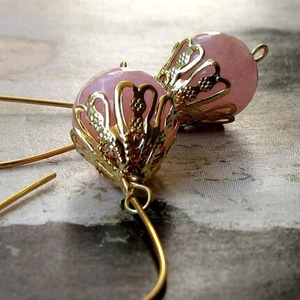 Verona Venetian Blush Pink Quartz Earrings