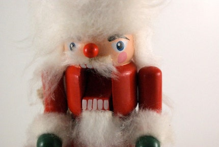 Vintage Santa Nutcracker with CRAZY SCARY TEETH