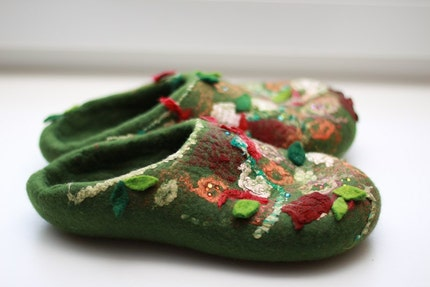 Felted slippers --- Handmade to Order