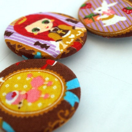 Princess and her Pets 3 pin back button set by glamasaurus on Etsy