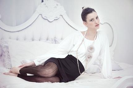Beautiful  dress in dark blue and white
