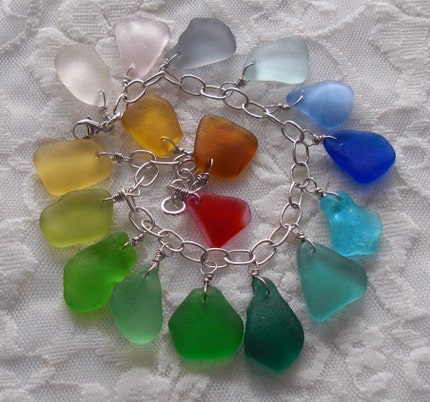 RERSERVED FOR PRISCILLAB33 - A Piece of Everything Seaglass Bracelet
