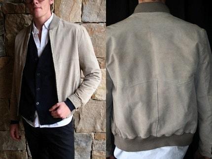 Vintage Vegan Unisex Suede Jacket