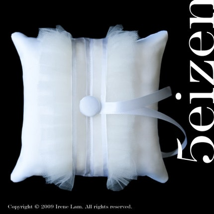 Tuxii Series II - White Ring Pillow 6inch