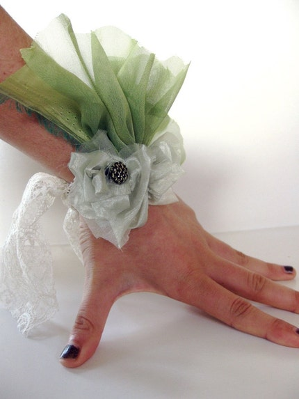 Green with Envy Wrist Cuff / Corsage