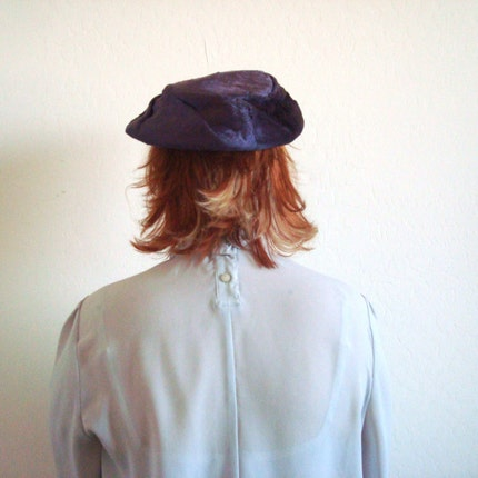 Vintage Violet FUR Hat