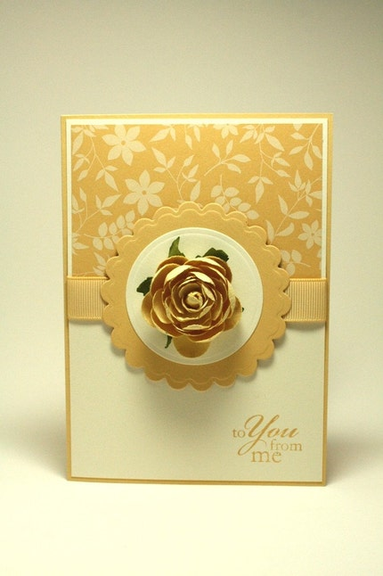 To you from me floral yellow greeting card by Spring Blossom Design