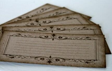 Vintage frame journal cards set of  5