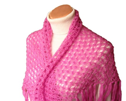WINTER SALE Magenta Mohair Shawl to Warm you in Winter