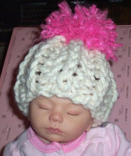 Swee P Pink Baby Pom Pom Hat