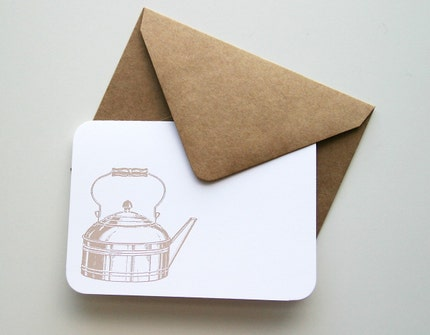 Tea Kettle notecard set (4 cards)