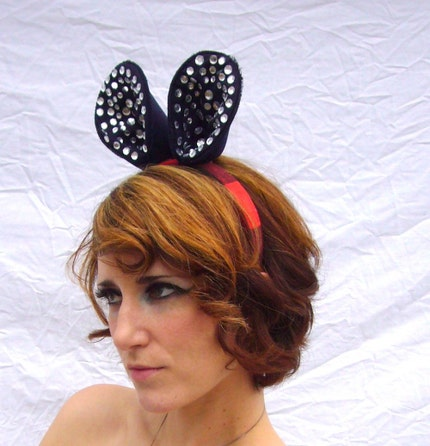 Avant Garde  Mouse Ears Hair Fascinator
