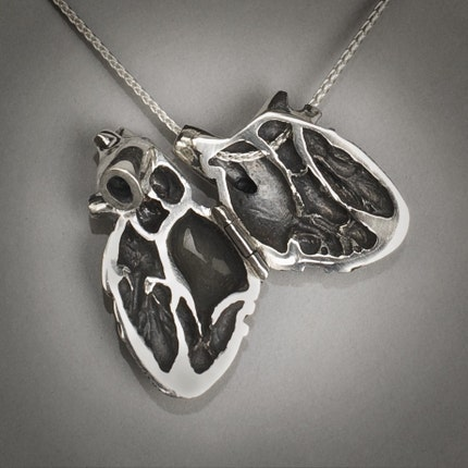 Anatomical heart locket by Peggy Skemp