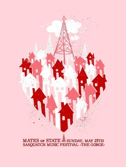 Mates of State - Screenprinted Gigposter