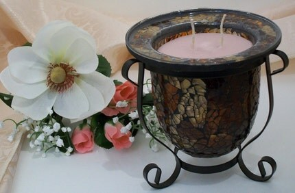 Dragons Blood Oil Candle Centerpiece by MandiLeighs on Etsy