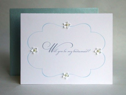 Will You Be My Bridesmaid embellished card