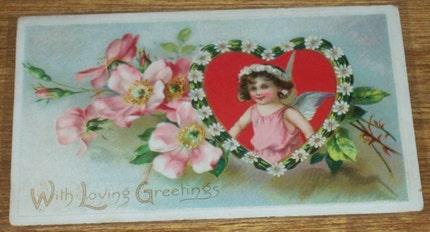 Raphael Tuck Embossed Valentine Postcard Ephemera