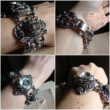 Aria - Opera Bracelet in Silver - Vintage Recycled