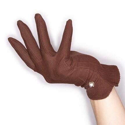 50s, vintage, gloves, dress, brown, antique