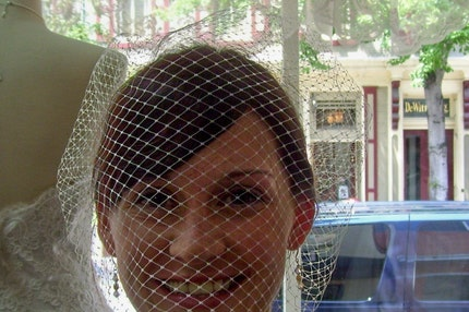 The CASEY BirdCage Veil white or ivory-FREE SHIPPING