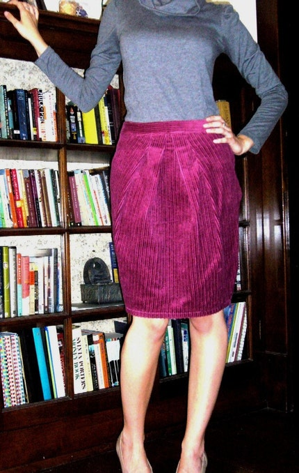 Pamela.  Custom-made pencil skirt .