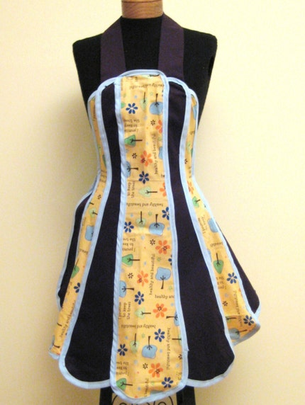 Mother (Nature) - I Promise To Keep the Trees Healthy and Beautiful - Vintage Funky Retro Full Apron Sizes 2-14....SALE