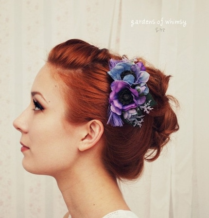 Mairead - a purple, periwinkle, and lavender comb